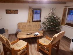Obývací pokoj na Vánoce